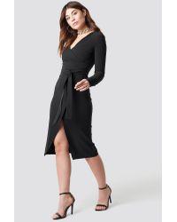 Trendyol Black Binding Detailed Midi Dress