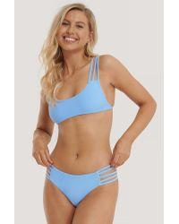NA-KD Blue Swimwear Strappy Vacay Bikini-Höschen
