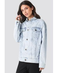 Cheap Monday Upsize Jacket Blue Spider