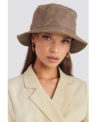 Checked Bucket Hat NA-KD en coloris Brown