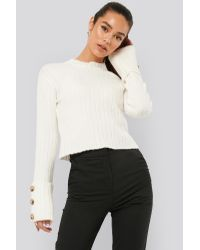 NA-KD White Misslisibell x Folded Sleeve Knitted Sweater