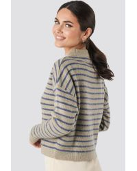 NA-KD Multicolor Striped Round Neck Knitted Sweater