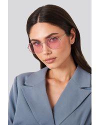 NA-KD Octagon Sunglasses Pink