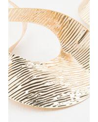 NA-KD - Metallic Big Twisted Earrings - Lyst