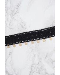 NA-KD - Crochet Flat Bead Choker Black - Lyst