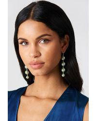 NA-KD Black Coloured Pearl Drop Earrings