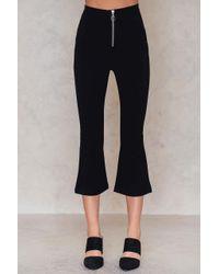 NA-KD | Black Zipped Kick Flare Pants | Lyst