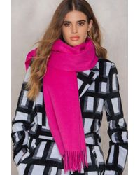 Just Female | Pink Clive Scarf | Lyst