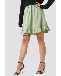 Striped Flounce Skirt NA-KD en coloris Green