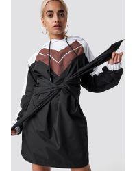 NA-KD Black Tie Waist Hooded Dress