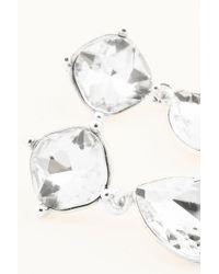 NA-KD - Metallic Small Hanging Diamond Earring - Lyst