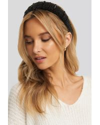 NA-KD Sparkling Padded Head Band Black