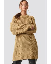 Trendyol Natural Oversized Knitted Sweater