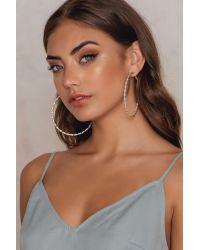 NA-KD | Metallic Big Hoop Braided Earrings | Lyst