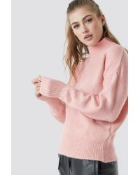 Trendyol Pink Polo Knitted Jumper