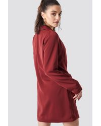 NA-KD Red Party Double Breasted Blazer Dress