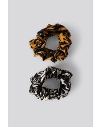 NA-KD Multicolor Double Pack Animal Printed Scrunchies