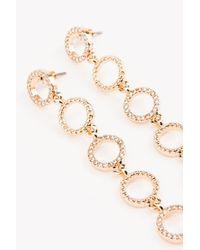 NA-KD | Metallic Hanging Small Circles Earrings | Lyst