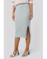 NA-KD Multicolor Trend Knitted Pencil Skirt