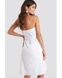 Trendyol Carmen Straped Midi Dress in het White