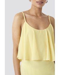 Trendyol Flywheel Long Dress in het Yellow