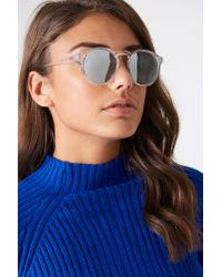 Le Specs Blue Cubanos Clear/silver
