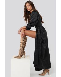 NA-KD Loose Shaft Pointy Boots in het Multicolor