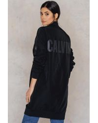 CALVIN KLEIN 205W39NYC - Black Olga Long Bomber Jacket - Lyst