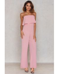 Passion Fusion Pink Crop Bandeau Jumpsuit Blush