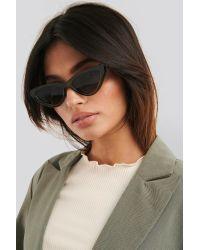 Long Edge Cateye Sunglasses NA-KD en coloris Green