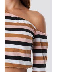 NA-KD Multicolor Cropped One Shoulder Top