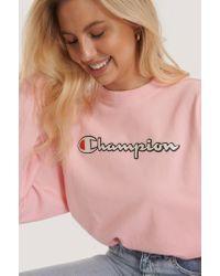 Champion Pink Oberteil Mit Rundhalsausschnitt