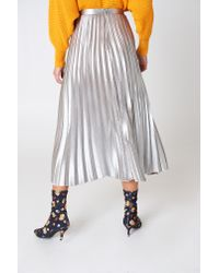 Bardot - Metallic Pleated Skirt - Lyst