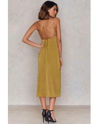 For Love & Lemons Green Twinkle Dress