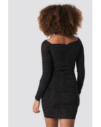 Trendyol Black Silvery Effect Midi Dress