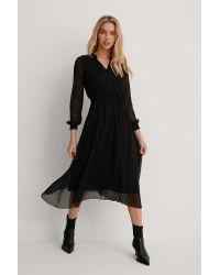 Trendyol Midi-jurk Met Mesh Details in het Black