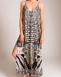Camilla Multicolor Weave Of The Wild Overlay V Dress