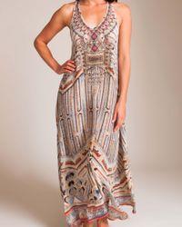 Camilla Multicolor Byzantine Realms V-neck Racerback Dress