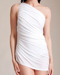 Norma Kamali   White Diana Mio Swimsuit   Lyst