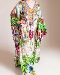 Camilla Green Exotic Hypnotic Split Front Kaftan