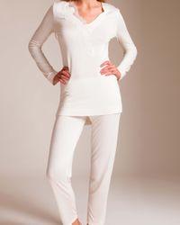 Cotton Club White Dietrich Insolente Pajama