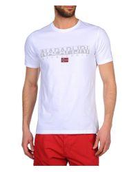 Napapijri | White Short Sleeve T-shirt for Men | Lyst