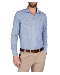 Napapijri   Blue Long Sleeve Shirt for Men   Lyst