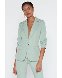 """Nasty Gal Green """"cater To You Tailored Blazer"""""""