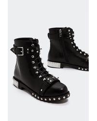 """Nasty Gal Black """"slayer Them Embellished Boot"""""""
