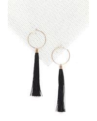Nasty Gal - Black Dip It Low Tassel Earrings Dip It Low Tassel Earrings - Lyst