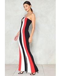 Nasty Gal Black Stripe Chain Strap Jumpsuit Stripe Chain Strap Jumpsuit
