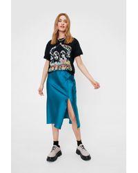 Nasty Gal Green Days Of The Sleek Button-down Midi Skirt