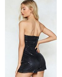 "Nasty Gal Black ""no Tux Given Sequin Romper"""