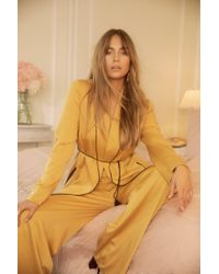 Nasty Gal Yellow Like A Boss Suit Jacket